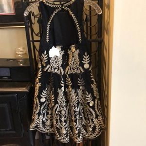 Beautiful never worn black and gold party dress
